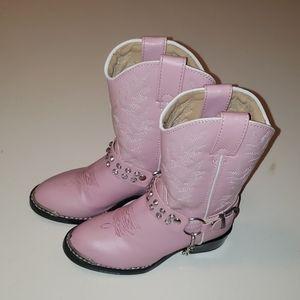 Durango rhinestone girls pink cowboy boots NWOT